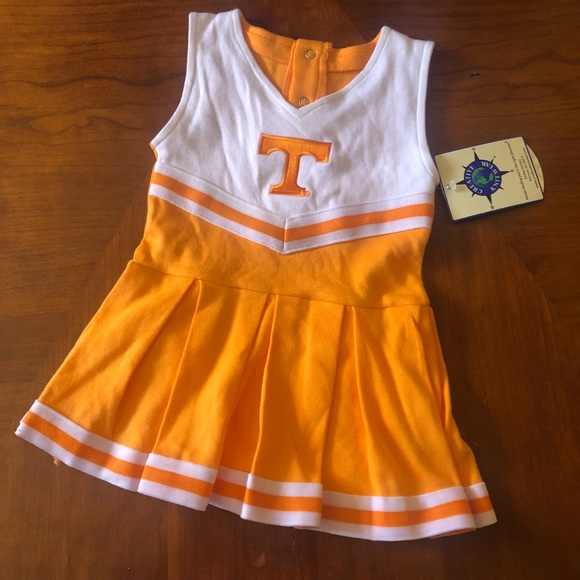 TENNESSEE VOLUNTEERS 3-PIECE INFANT CHEERLEADER OUTFIT NWT